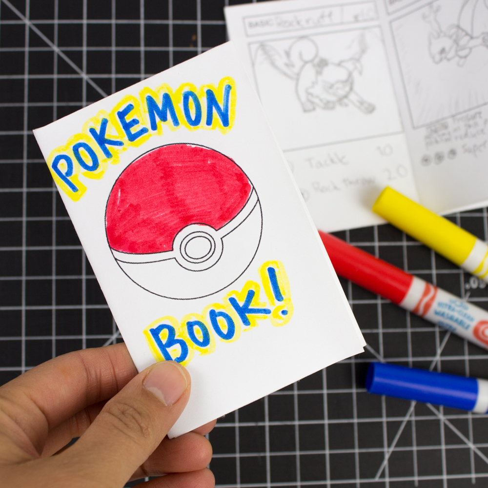 picture regarding Pokemon Card Printable identify Mini Printable Pokemon Booklets (against 1 sheet of paper