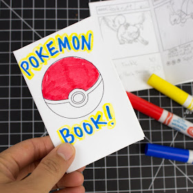 Print and Fold Mini Pokemon Booklets- Perfect for drawing your own collection of Pokemon Cards!