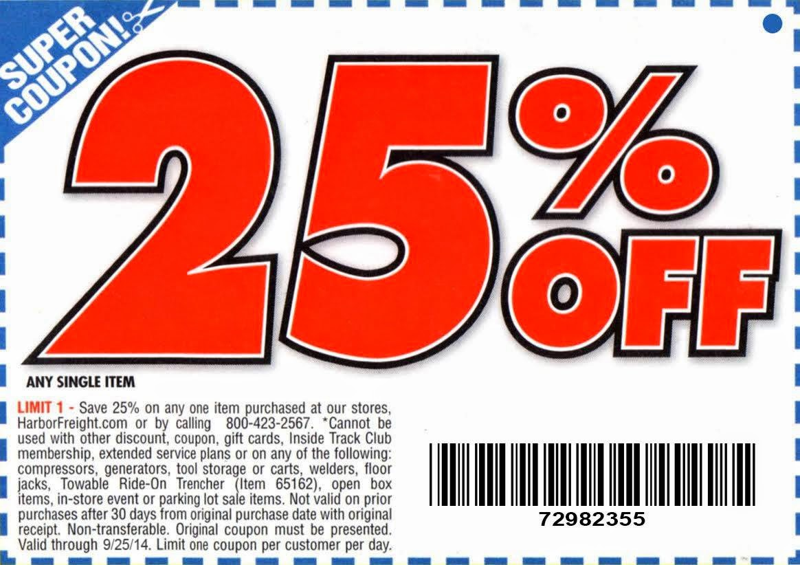 photo about Five Guys Coupons Printable known as Buy Fresh new Coupon: Harbor Freight Resources Coupon codes