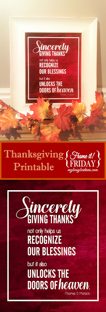 Printable Thanksgiving quote