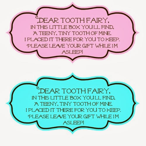 Tooth Fairy Sayings