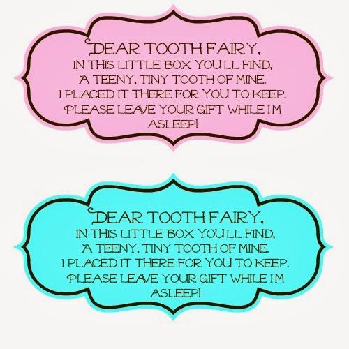 Tooth Fairy Poem Printable