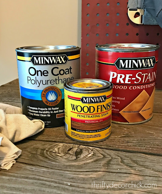 How to stain a wood frame with Minwax