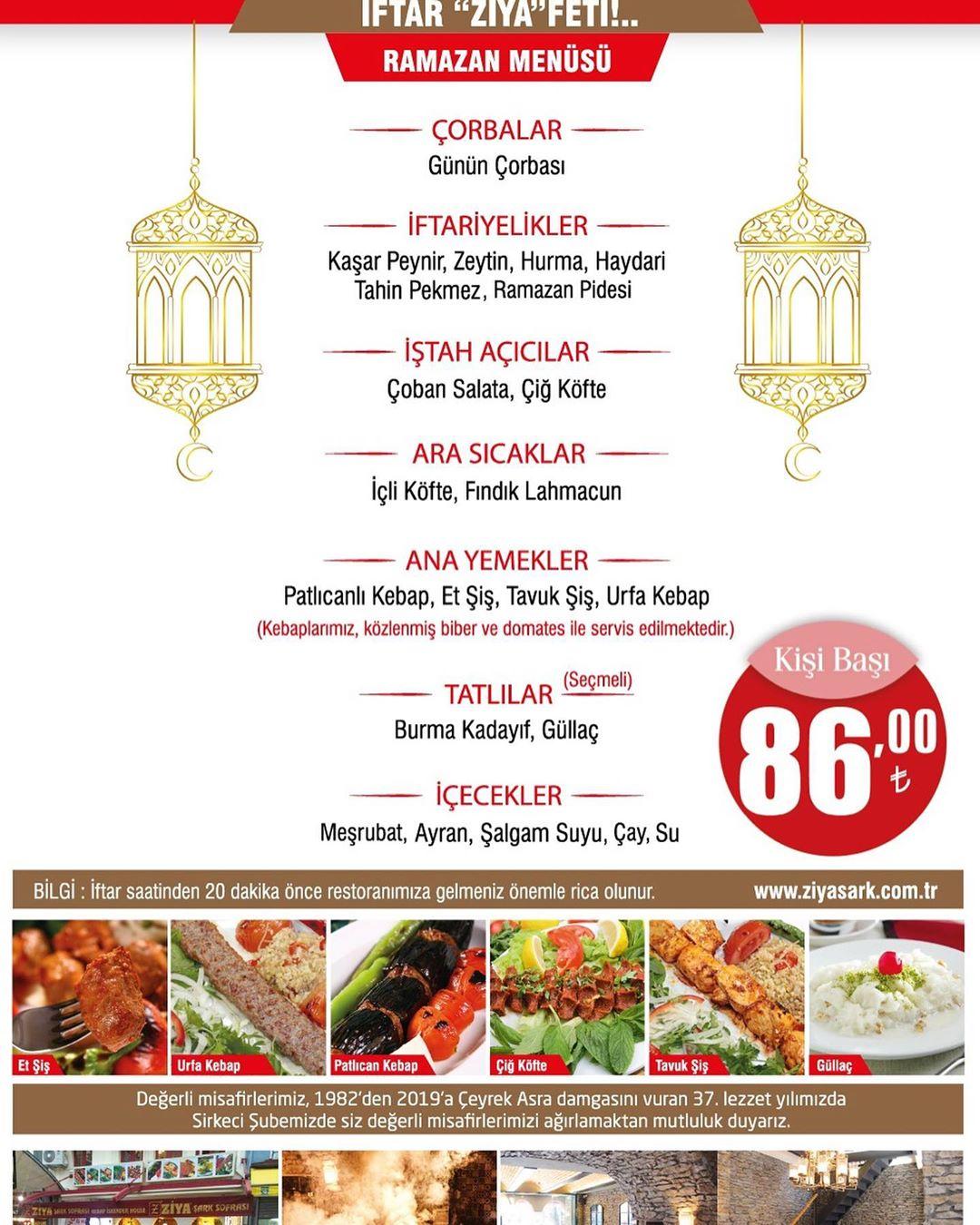 ziya şark sofrası iftar menüsü fiyatı fatih ziya şark sofrası sirkeci ziya şark sofrası sirkeci iftar menüsü