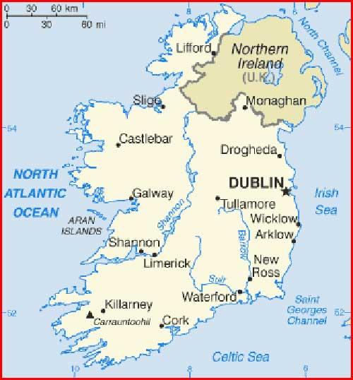 Gambar Peta politik Irlandia