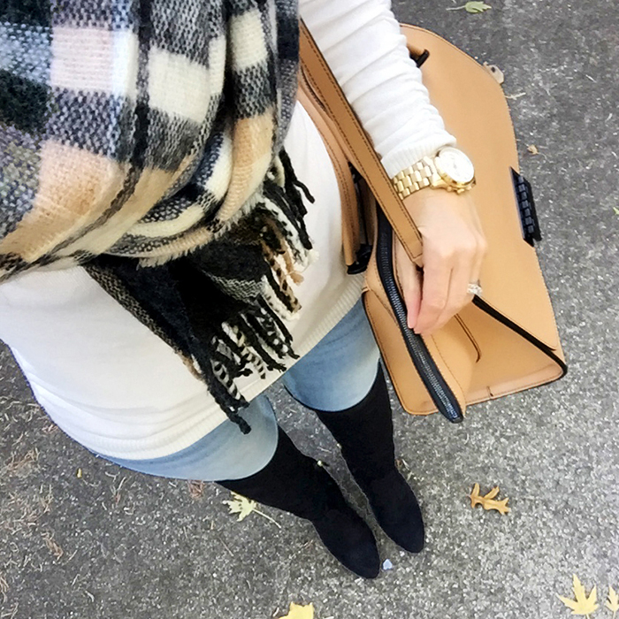 asos scarf, over the knee boots, best holiday deals, best black friday deals