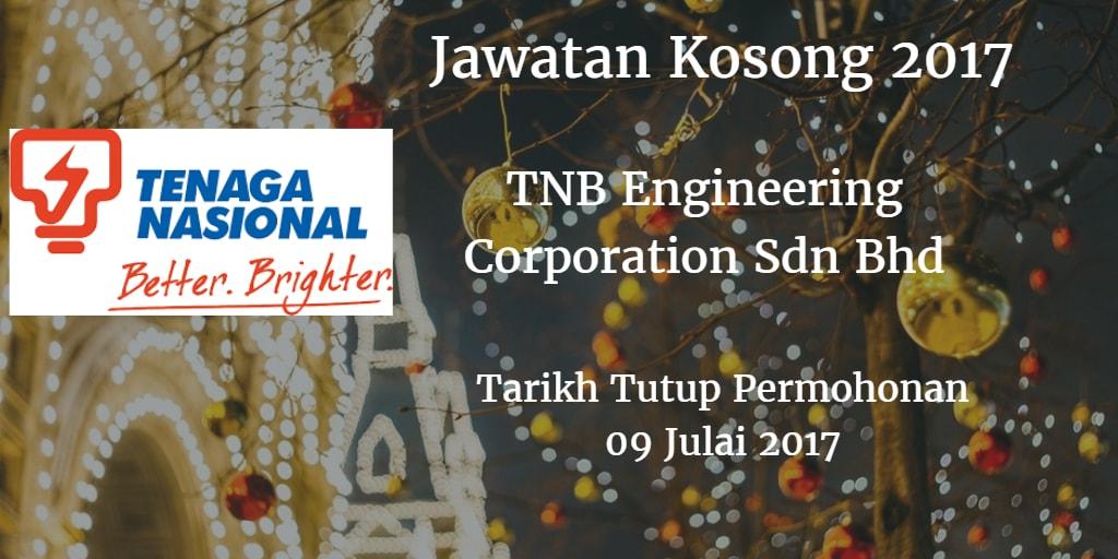 Jawatan Kosong TNB Engineering Corporation Sdn Bhd 09 Julai 2017