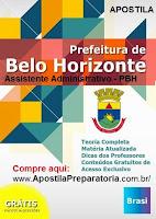 Apostila Concurso PBH Assistente Administrativo Edital Fumac 2015