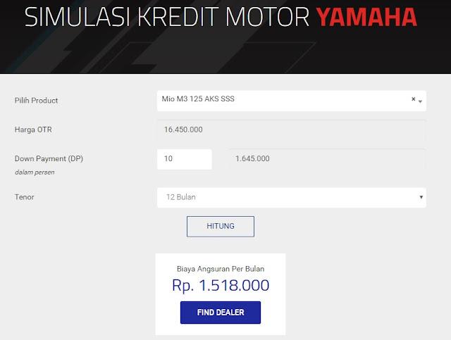 cara menghitung kredit motor yamaha
