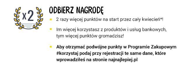 mail dla zapisanych w akcji najnajlepiej.pl - podwojenie punktów