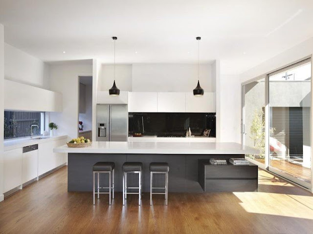 White gloss kitchen style with wooden floors White gloss kitchen style with wooden floors White 2Bgloss 2Bkitchen 2Bstyle 2Bwith 2Bwooden 2Bfloors2