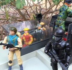 Condor, Argentina, Plastirama, Airborne, Blowtorch, Antorcha, 1983 General Hawk, SOS, Doc, Medico, Fuego, Brazil, Estrela, Ripcord, Action Force Stalker, Snake Eyes, European Exclusive, 1985 Tactical Battle Platform