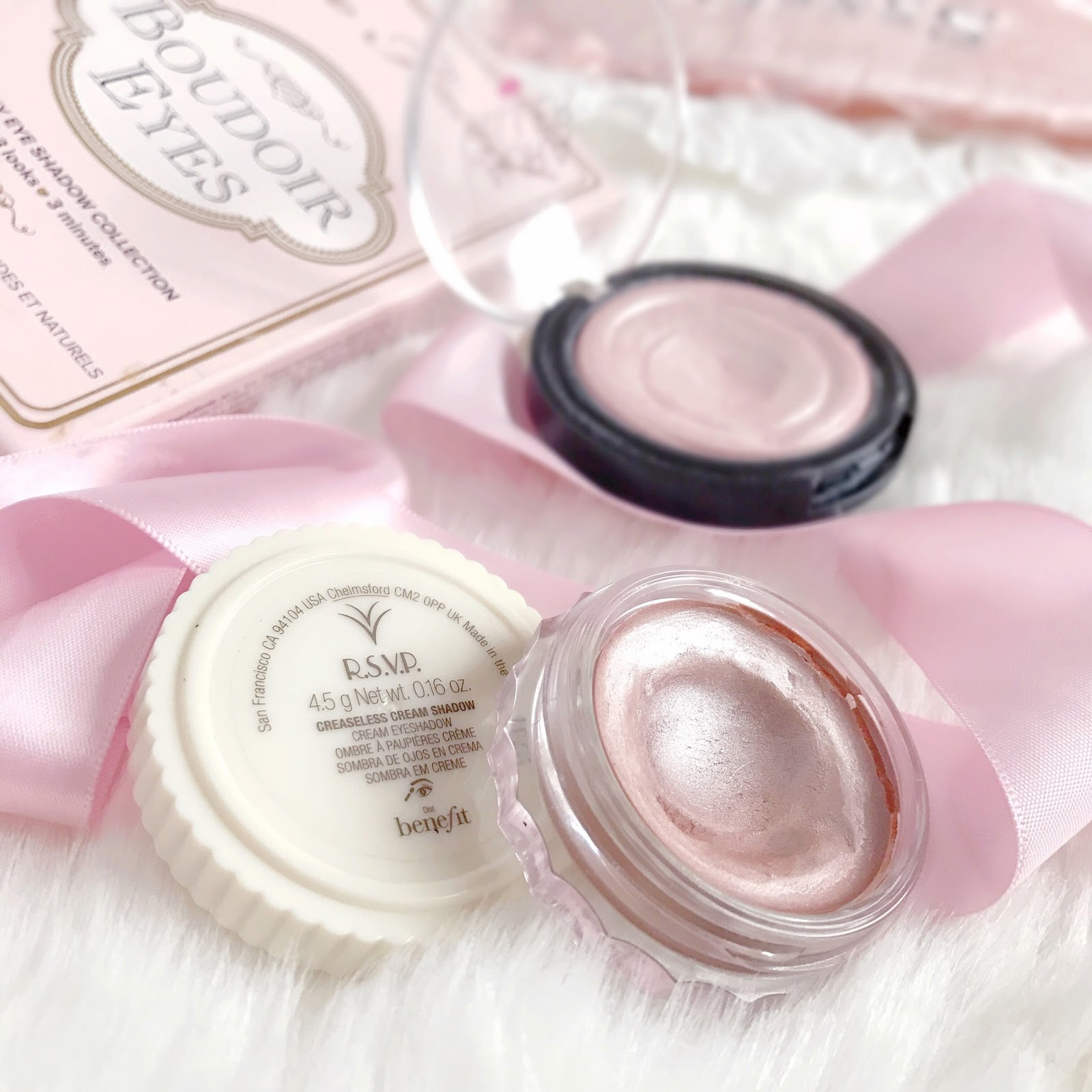 Four Champagne Pinks To Try | Benefit R.S.V.P Creaseless Cream Eyeshadow