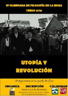 Cartel IV Olimpiada de Filosofia de La Rioja