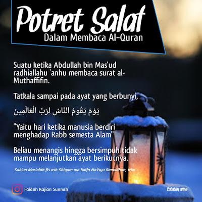 Potret salaf dalam membaca al Quran