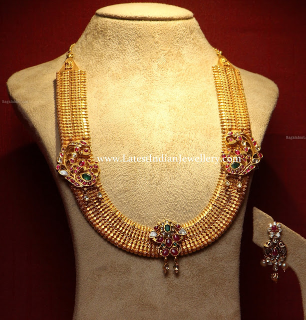 Ruby Motifs Traditional Necklace