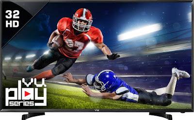 Vu 80cm (32) HD Ready LED TV (32K160MREVD, 2 x HDMI, 1 x USB) @ Rs.12,499/-