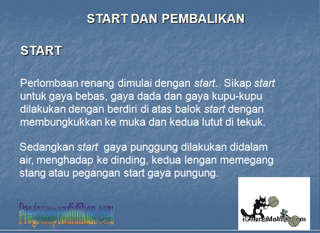 Materi Renang Start dan Pembalikan Bentuk Power Point