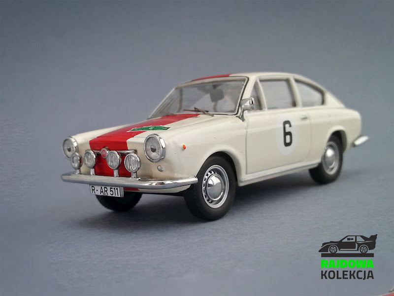 Walter Röhrl Collection IXO Fiat 850 Coupé Rallye Bavaria 1968