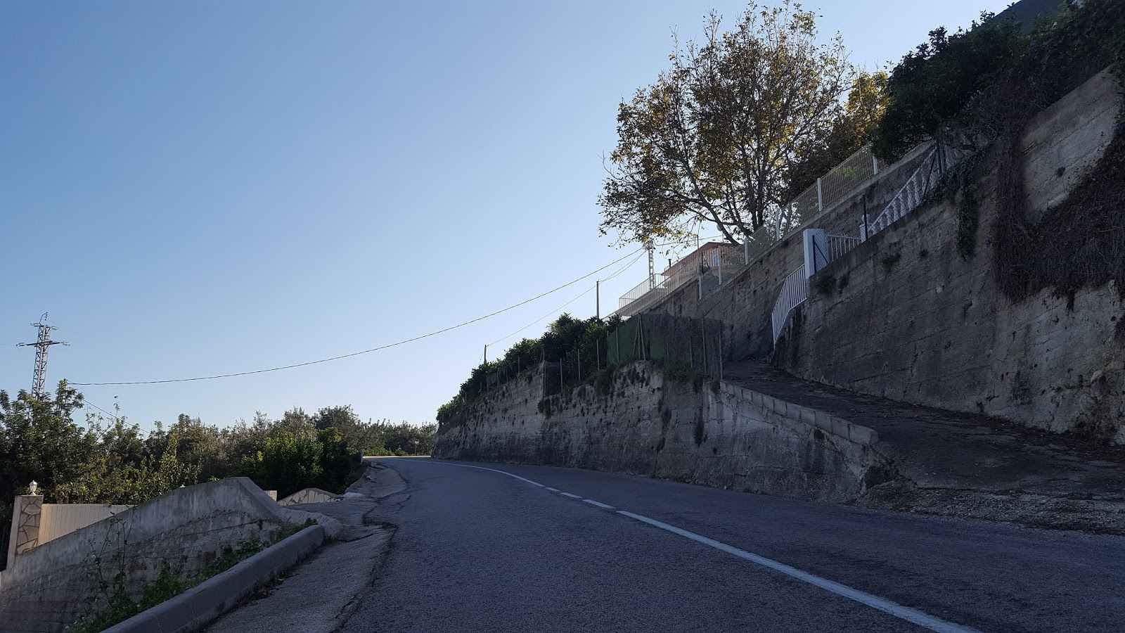 Initial slopes of the Vall de Ebo climb, Alicante, Spain
