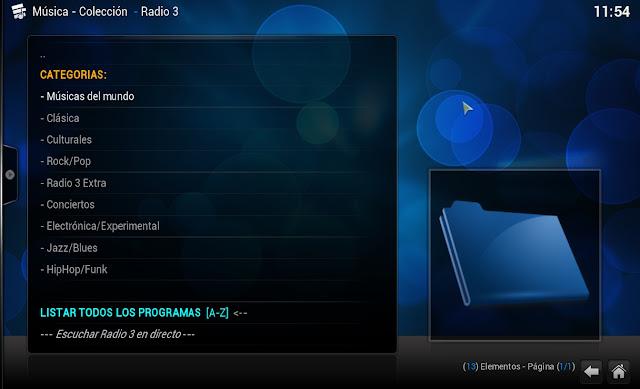 RADIO 3 - A la Carta - KODI