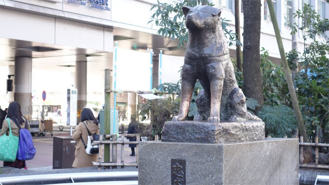 Patung Hachiko di Stasiun Shibuya