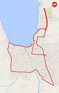 Rute 42KM Palu Nomoni International Marathon 2016 pemerintah kota palu sulawesi tengah