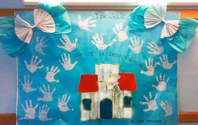 Mi sala amarilla 9 de julio ideas para carteleras Decoracion 25 de mayo nivel inicial