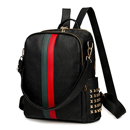 264c301f173e Mynos Backpack Bag Women Mini Rucksack Travel Bookbag For Girls Backpack  Leather Bag Ladies Purse And Handbags (Upgrade Medium Size-Black) 2019
