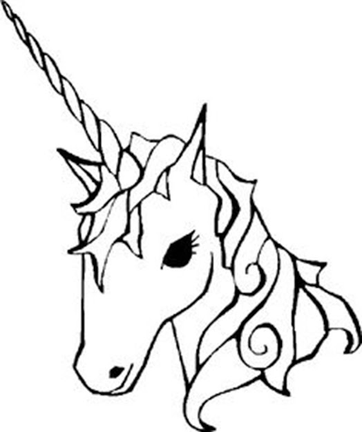 Unicorn Drawing Easy Coloring Pages For Girlscoloring