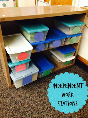 Setting up independent work stations in special education
