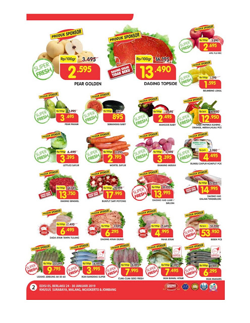 Katalog Super Hemat Super Indo surabaya, malang, mojokerto dan jombang 24 Januari sampai 30 Januari 2019