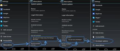 Cara Memunculkan Opsi Pengembang Di Android Semua Merk