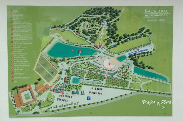 Mapa del Bacalhôa Buddha Eden