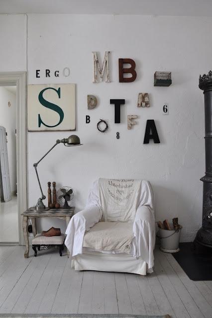 Cosy home lettere e numeri for Scritte da parete