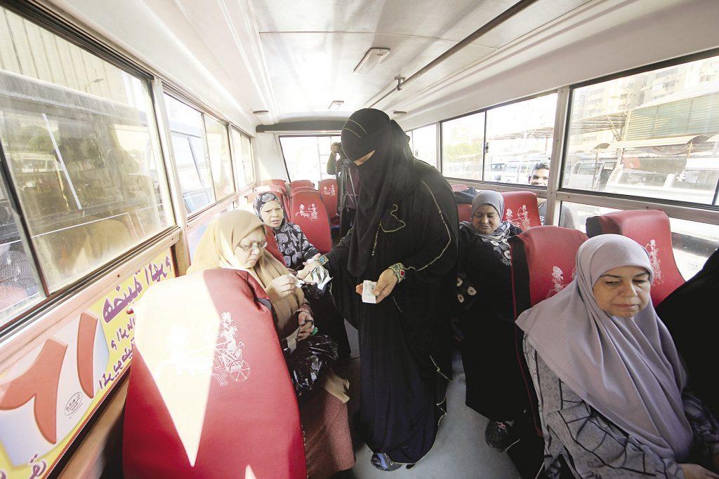 لأول مرة في مصر أتوبيس نسائي للسيدات فقط في القاهرة من أجل القضاء على ظاهرة التحرش