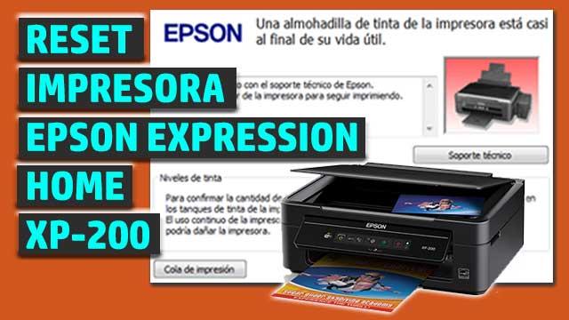 Reset impresora EPSON Expression Home XP-200