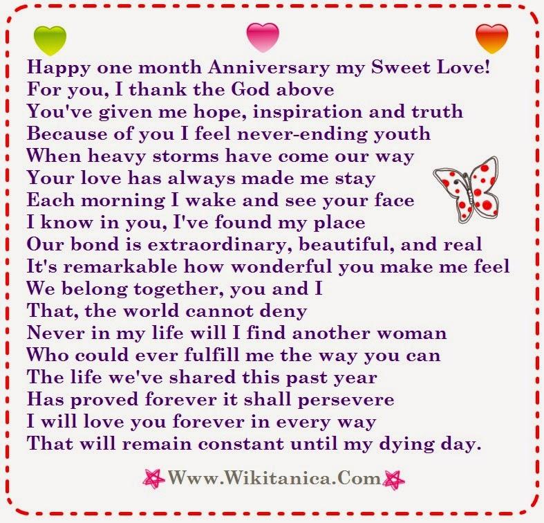 Happy three months anniversary poems
