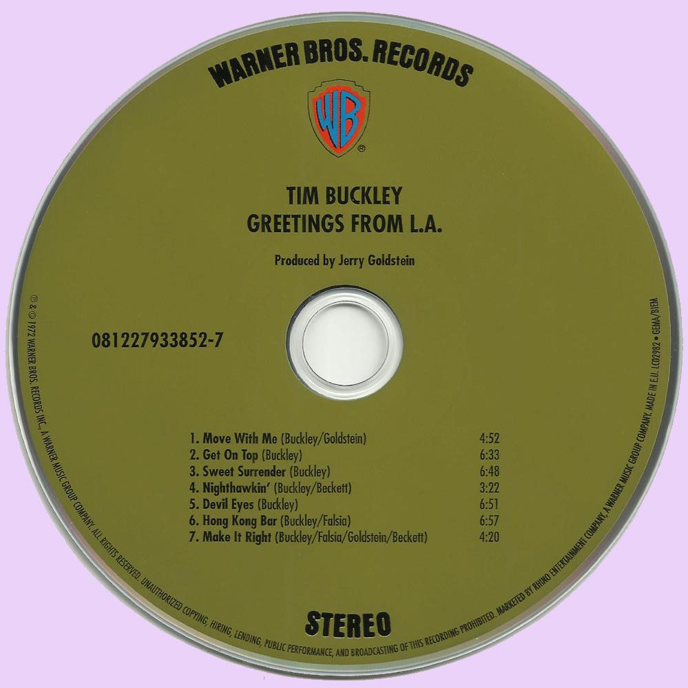 Rockasteria Tim Buckley Greetings From La 1972 Us Superb