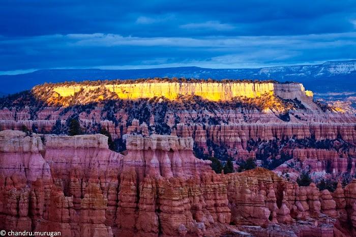 Amazingexplore of Bryce Canyon National Park photo of golden sunset rock pillars