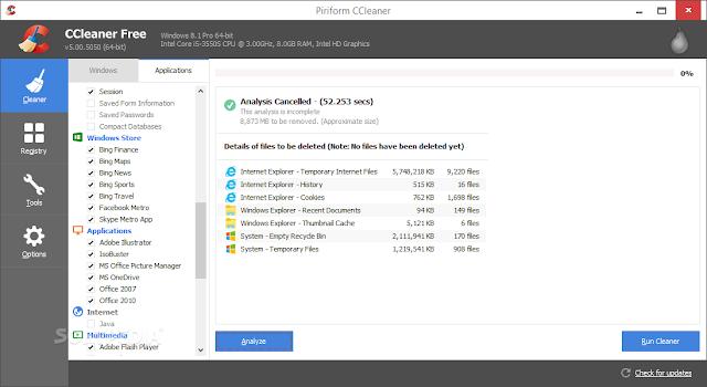 تحميل برنامج سي كلينر للكمبيوتر مجانا Download CCleaner