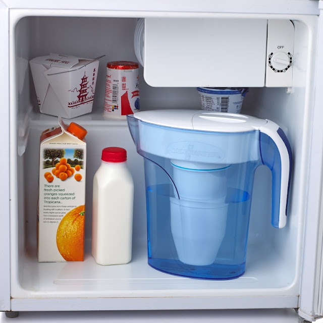 ZeroWater 7-cup pitcher fits in a dorm room fridge #ad