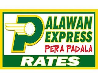 Palawan Express Pera Padala Rates and Charges 2019