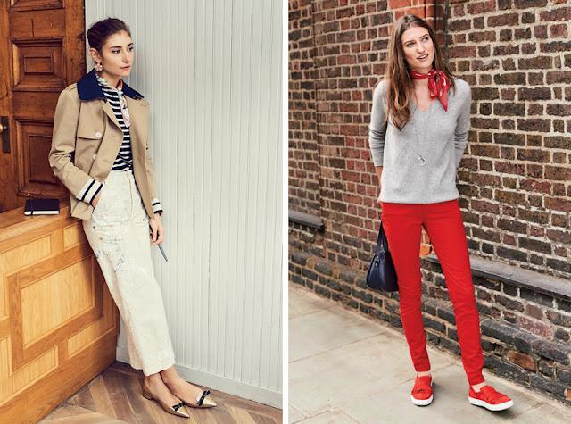 Девушки в одежде в стиле casual с шейным платком