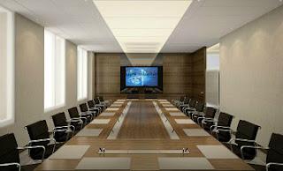 Phòng họp với thiết bị hội nghị truyền hình trực tuyến hiện đại