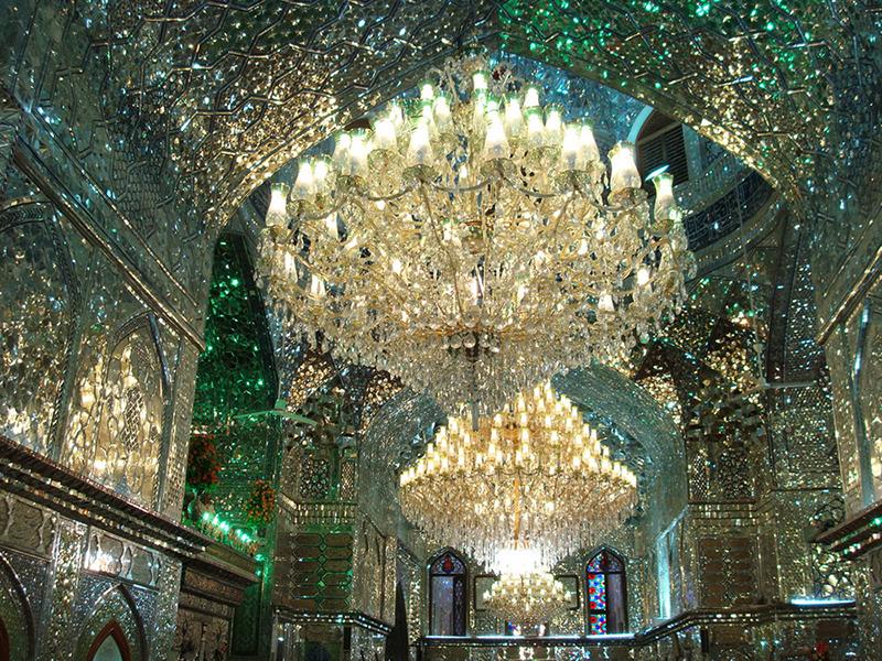 Мечеть-мавзолей Шах-Черах в Ширазе, Иран. Фото в блоге itdalee.ru