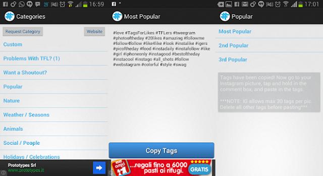 Hashtag per aumentare i follower