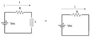 Rangkaian DC Resistor Indiuktor Seri