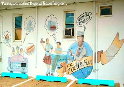 Cool Scoops Ice Cream Parlor Wall Mural in North Wildwood, New Jersey