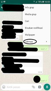 Cara Bersihkan Chat di Grup WhatsApp